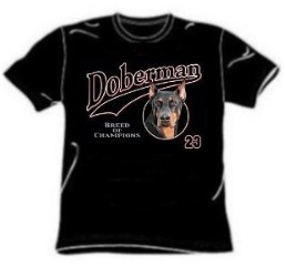 Doberman tee shirt