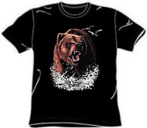 River Splash Grizzly Bear T-Shirt