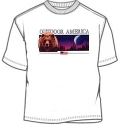 Outdoor America Grizzly Bear Wildlife Shirt