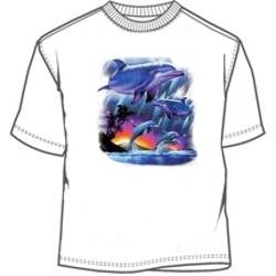 Jumping dolphins tees