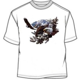 American Bald Eagle in snow tee shirt
