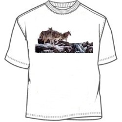 Mountain wolves and river tee shirt