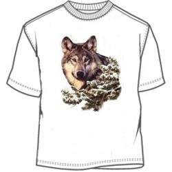 Head of the wolf tee tees