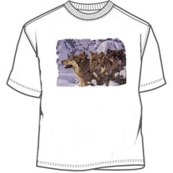 Pack of wolves in the snow tees