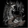Cave dragon destroying castle bridge tee shirt