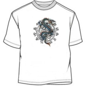 Chinese writing dragon symbol tees