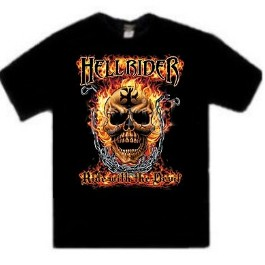 Hell Rider Ride With The Devil Biker T-Shirt