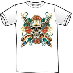Skull Shirt - Love Kills