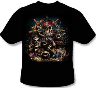 Skull Shirt - Pirate Treasure Chest