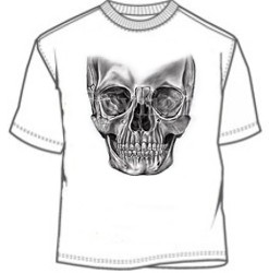 Doomsday black white and gray doom skull tee shirt