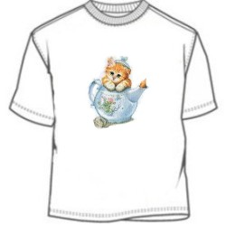 Tea Kettle Kitten T-Shirt