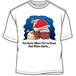 been bad when santa clause t shirt