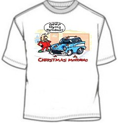 Flying Fucking Reindeer Shit On The Car T-Shirts