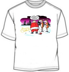 Santa Clause Novelty Christmas Tees