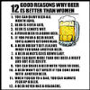 12 Reasons Why Beer Is Better Than Woman Tees