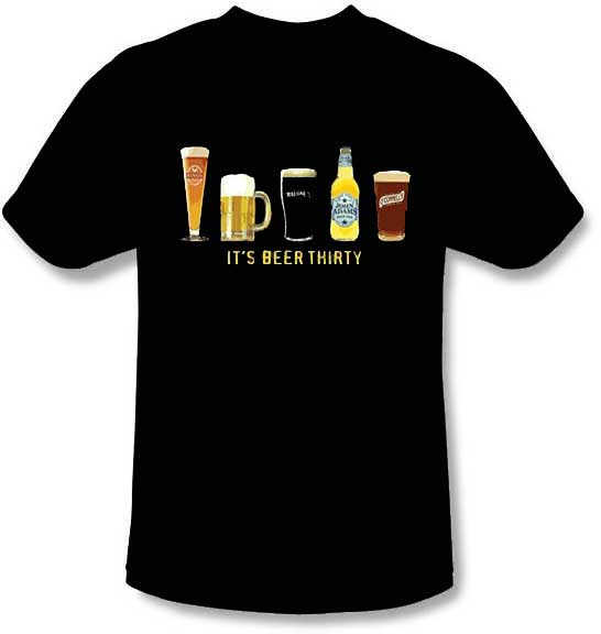 Funny Beer T Shirts For Women It s Beer Thirty T-Shirt