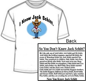 Novelty I Know Jack Schitt Funny Jack Shit Shirt