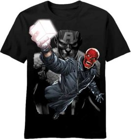 Captain America and Cosmic Cube T-Shirt