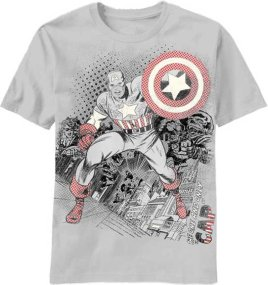 Captain America Vintage Shield T-Shirt