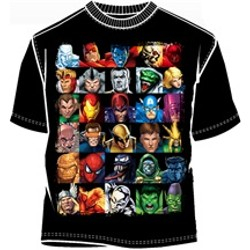 Marvel Comics Heroes and Villains Superhero Shirt