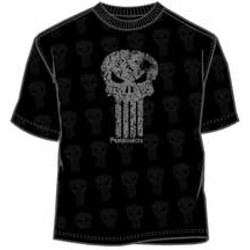 Punisher Logo With Bullet Hole In Skull