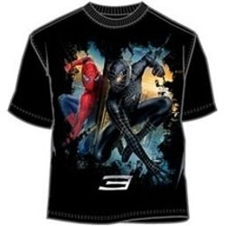 Spiderman 3 Movie Black and Red Amazing Spiderman T-Shirt