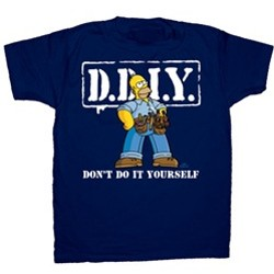 Don't Do It Yourself Homer DDIY Handyman Homer Simpsons T-Shirt