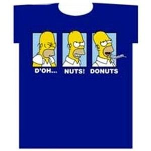 D'OH Nuts Donuts Satisfied Homer Simpson Tees
