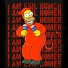 I Am Evil Homer Simpson Red Devil And Bongo Costume Tees