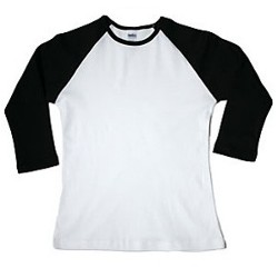 3/4 length raglan t-shirt for women.