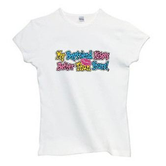 My boyfriend kisses better than yours short sleeve t-shirt