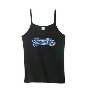 Women's dream on spaghetti strap tank top