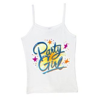 Teen party girl spaghetti strap tank top