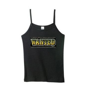 Women's wanted spaghetti strap tank top