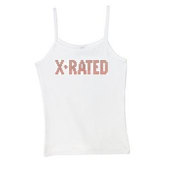 X-Rated Spaghetti Strap Tank Top