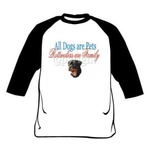 Raglan Shirt - Rottweilers Are Family