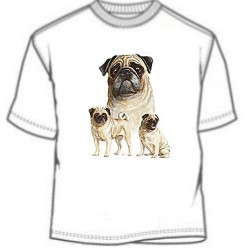 Triple Pug Phote Tees