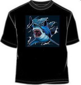 Rip Out Great White Shark tees