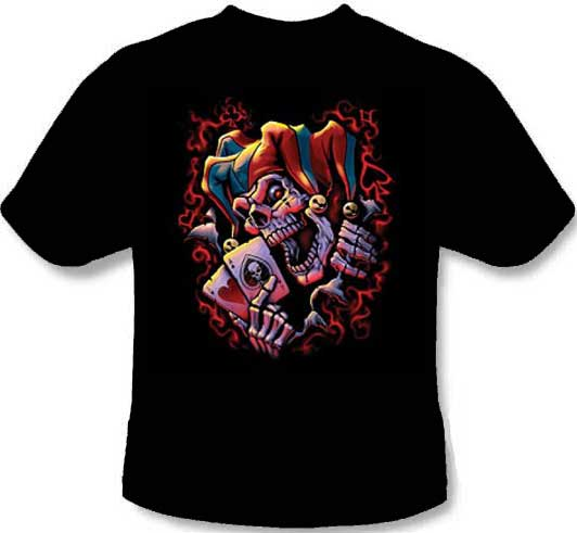 Wicked Jester Skull T-Shirt Wicked Jester Skull