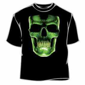 Glow in the dark skull face tee shirt
