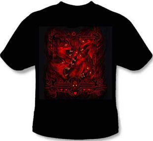 Animal T-Shirt - Red Evil Wolf Pack
