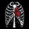 Blood Red Skeleton Heart Shirt