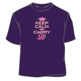 Keep Calm And Carry On Against Cancer T-Shirt