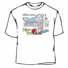 New York Map Tee