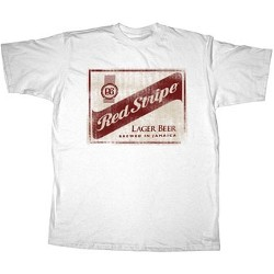 1fc7e9f029 White Red Stripe T-Shirt - Beer T-Shirts - Novelty T-Shirt - Funny ...