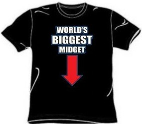 World's Biggest Midget Novelty Sex T-Shirt - Funny T-Shirts ...