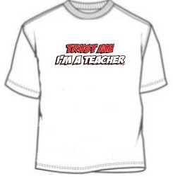 Funny novelty school teacher tee shirt