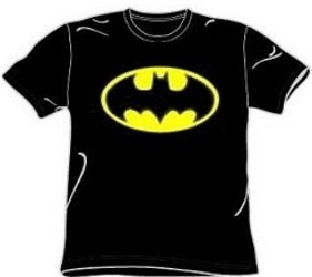 Classic Black and Yellow Batman Bat Logo