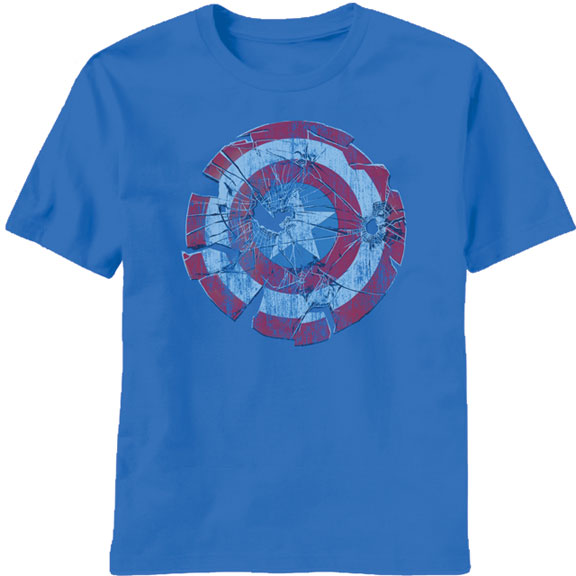 captain america t shirt glass shield logo. Black Bedroom Furniture Sets. Home Design Ideas