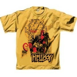 Mustard Colored Hellboy Tee